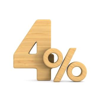 Cztery procent na białym