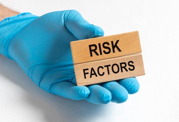 Czynniki ryzyka biznesowego, napis, koncepcja ryzyka medycznego