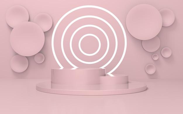 Czyste miękkie różowe podium do wyświetlania produktów
