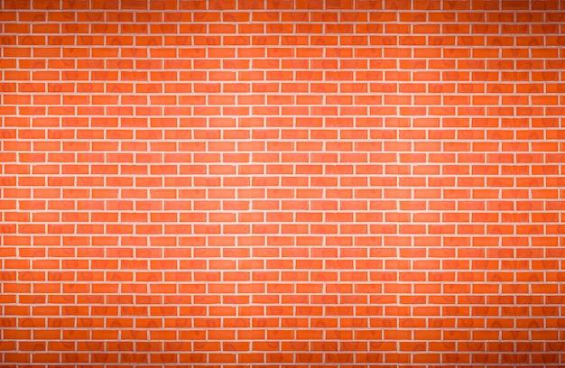Czyste ściany, pomarańczowy lub czerwony ceglany mur tekstura tło grunge. tło ściany