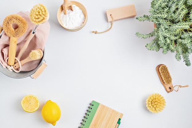 Czyszczenie domu nietoksyczne, naturalne produkty w misce