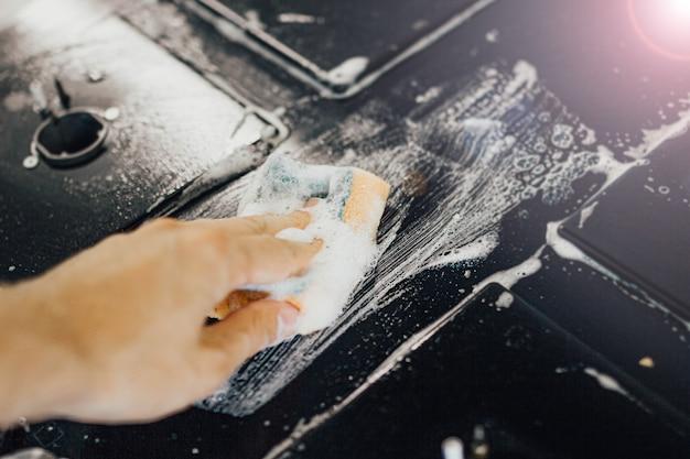 Czyszczenie piecem gazowym na pianę ze szklaną powierzchnią