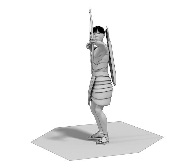 D renderowania ilustracja postaci wojownika