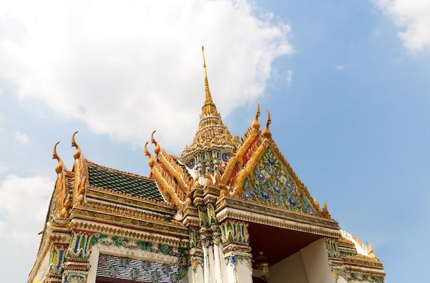Dach świątyni wat po