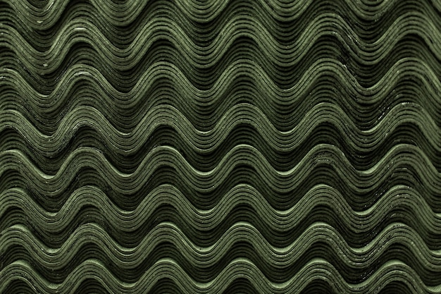 Dach zielony łupek płytki wzór fali tekstury.