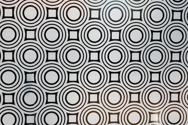 Dachówka mozaiki śródziemnomorskiej bez szwu czarno-biały ornament