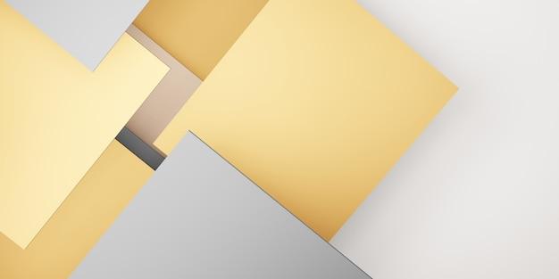 Dachówka tło pastelowej geometrii hierarchii abstrakcyjnych kwadratów ilustracja 3d