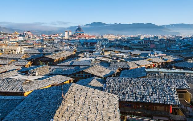 Dachu widok shangrila stary grodzki yunnan chiny