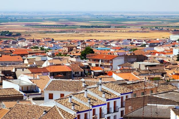 Dachy miasta w regionie la mancha