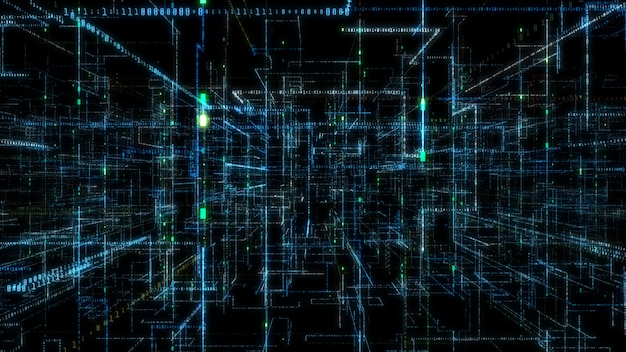 Dane sieciowe technologii cyfrowej 3d.