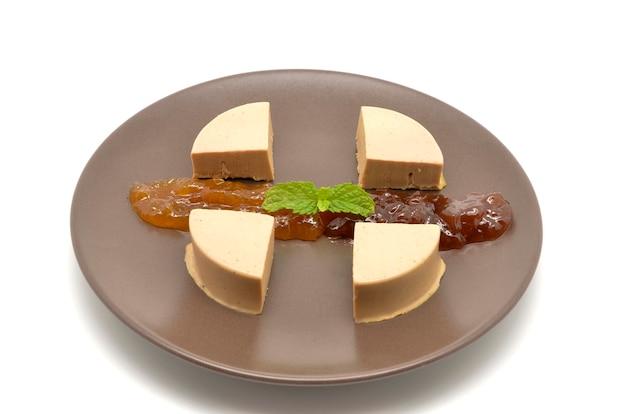 Danie z foie gras i marmoladą