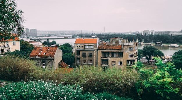 Danube rzeka blisko belgrade fortecy