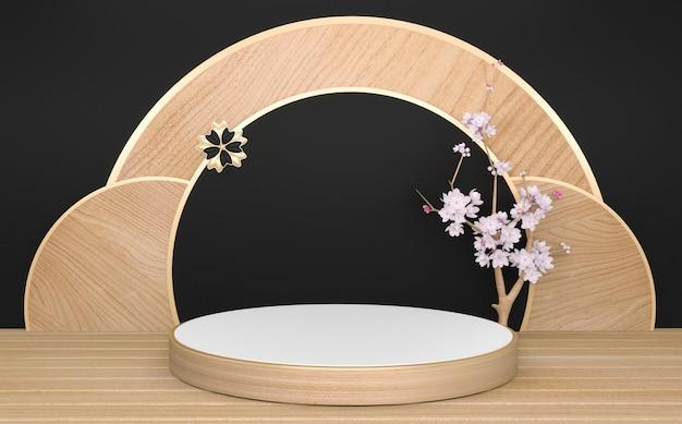 Dark black podium minimalne geometryczne renderowanie .3d