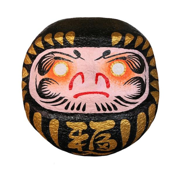 Darumas szczęśliwa lalka japońskiego z tłumaczeniem tekstu