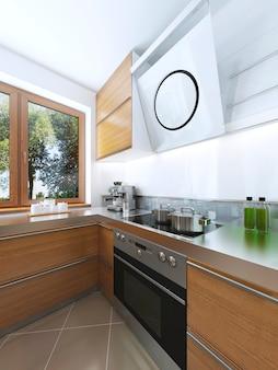 Decyzja projektowa wyposażenia kuchni, okapu i piekarnika z płytą grzewczą