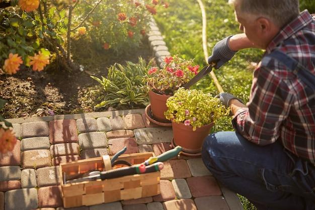 Dedykowana kwiaciarnia korzystająca z wielu narzędzi, utrzymująca kwiaty doniczkowe w dobrym stanie