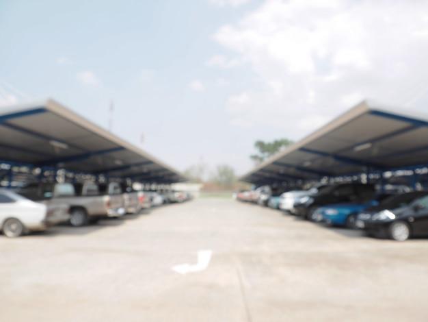 Defocus rozmycie parkingu