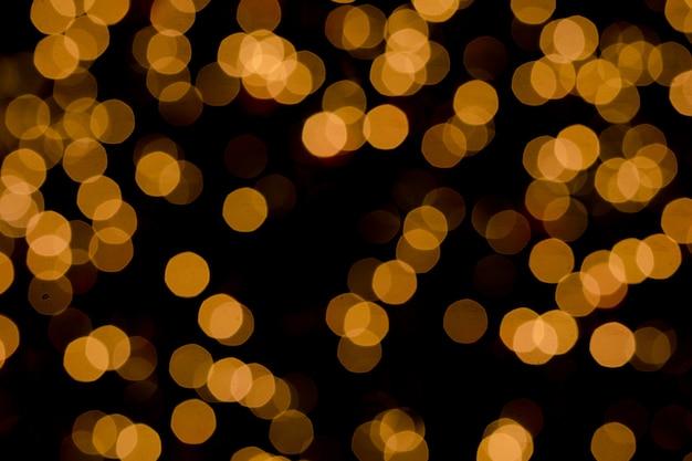 Defocused lub złota brokat bokeh od choinek elektryczności lekkich dekoracj
