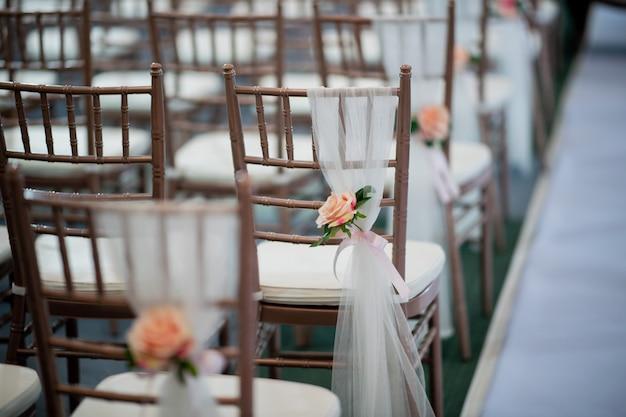 Dekoracja krzesła weselnego, krzesło eventowe