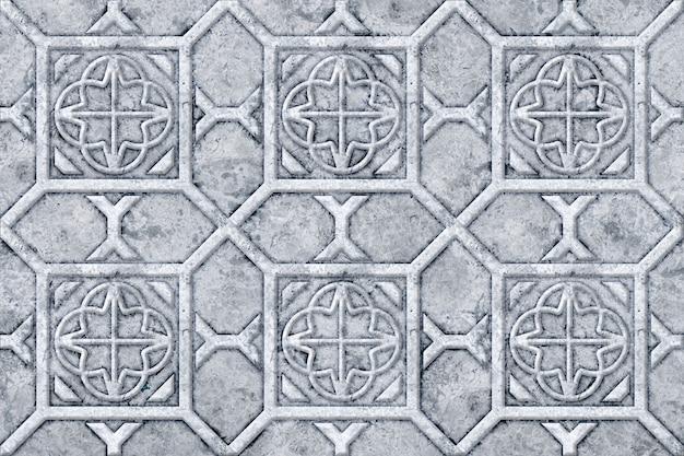Dekoracja ścienna. płytki kamienne z reliefowym wzorem. element projektu. tekstura tła