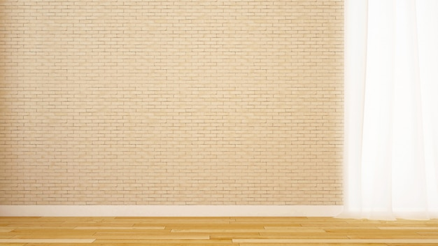 Dekoracja ścienna z pustego pokoju w domu lub mieszkaniu