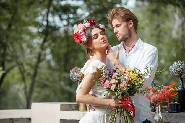 Dekoracja ślubna w stylu boho