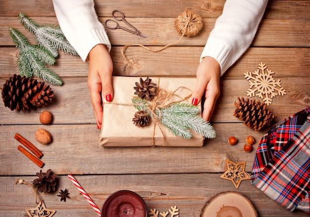Dekoracja świąteczna. ręcznie robiony wystrój