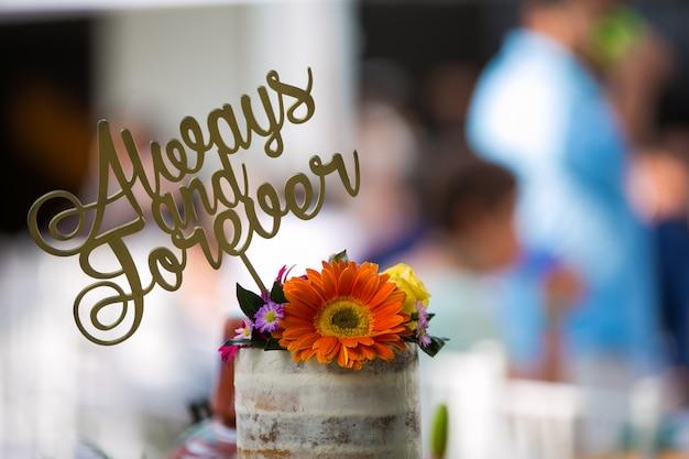 Dekoracja tortu weselnego