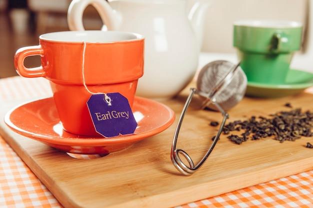 Dekoracje herbaty z filtrem
