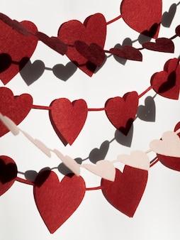 Dekoracje kształtują różne kształty serca