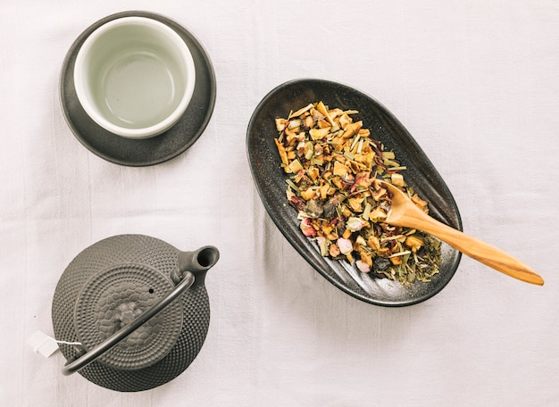 Dekoracyjna herbata martwa natura