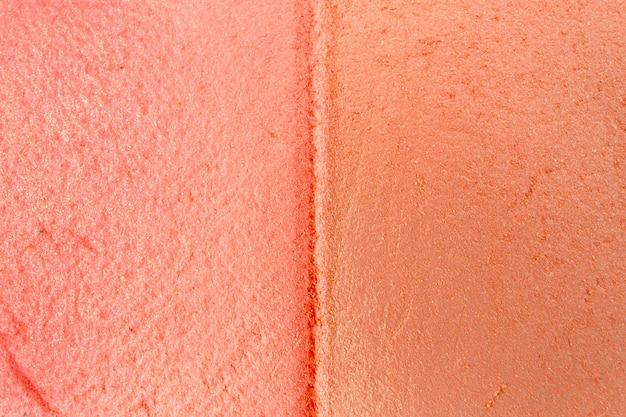 Dekoracyjna ściana kosmetyczna, tekstura proszku cienie do powiek z bliska