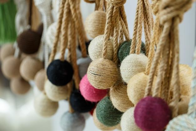 Dekoracyjne krawaty z tekstyliów na zasłony zasłony