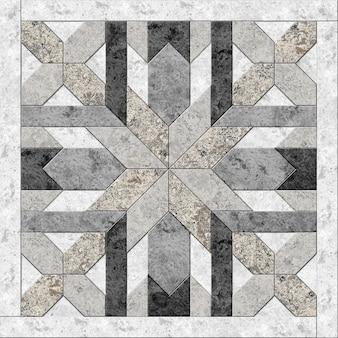 Dekoracyjne płytki kamienne. wzór geometryczny z naturalnego marmuru. element do projektowania wnętrz. tekstura tła