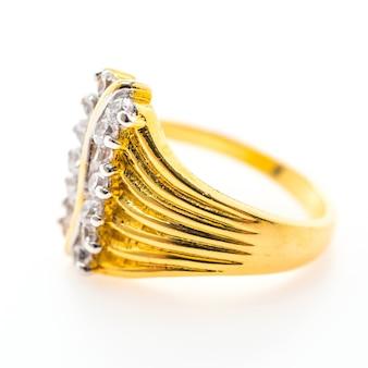 Dekoracyjne złoty pierścień