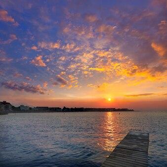 Denia beach sunset mediterranean alicante hiszpania