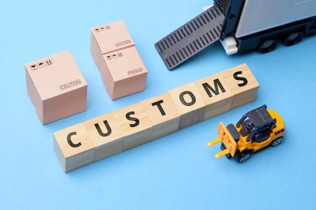 Departament celny regulujący import i eksport towarów.