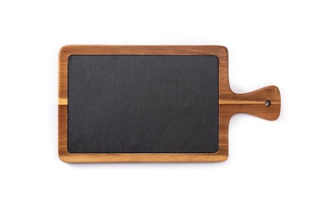 Deska do krojenia makieta na białym tle