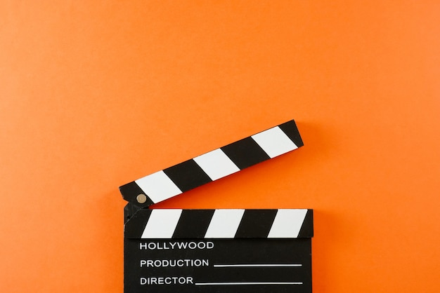 Deska klapy filmu z miejsca kopiowania.