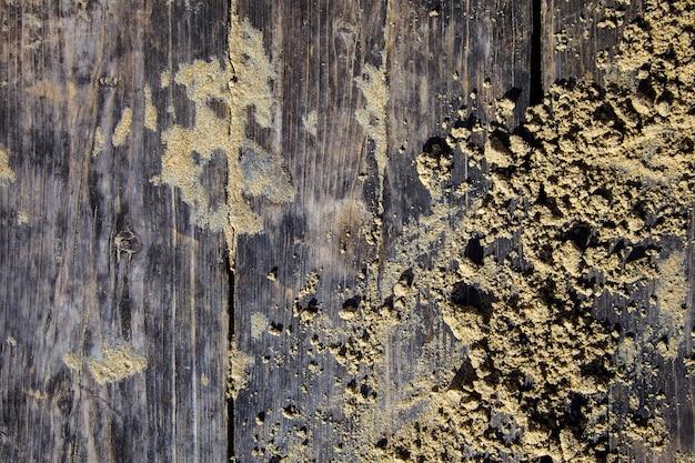 Deska piaska drewnianego plażowego boardwalk tekstury tła odgórnego widoku rocznika słońca szary żółty drewniany światło