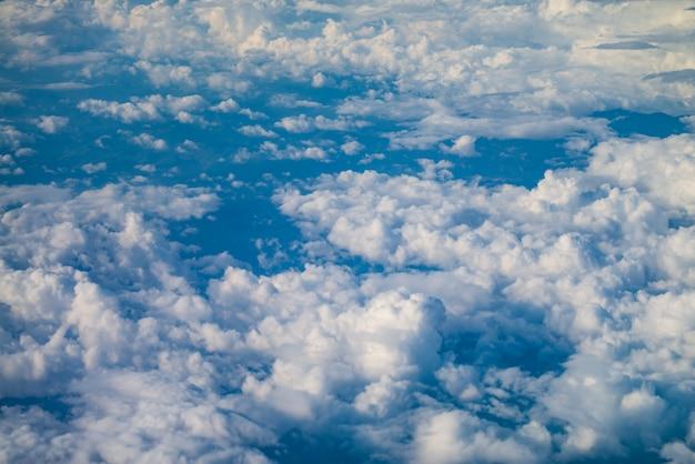 Deszcz widok chmury z góry.