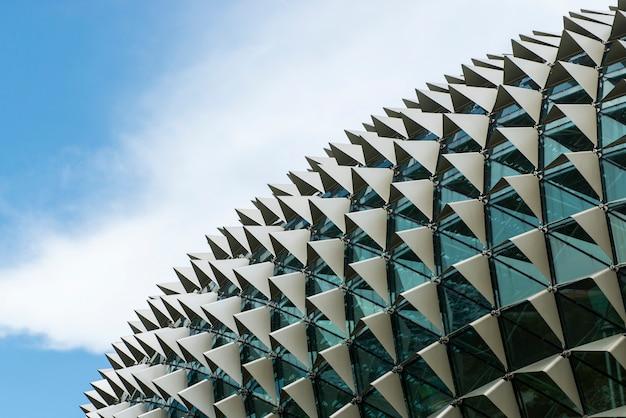 Detal architektoniczny dachu teatrów esplanade