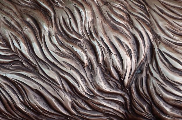 Detale z metalu kutej żelaznej bramy tłoczonej