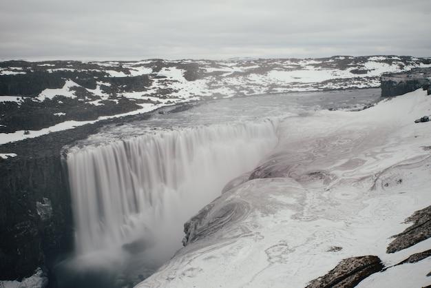 Dettifoss i selfoss, wodospady w północnej części islandii