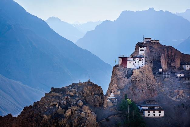 Dhankar gompa. dolina spiti, himachal pradesh, indie