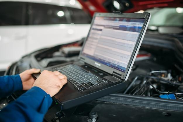Diagnostyka komputerowa samochodu w serwisie samochodowym