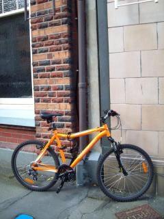 Diament z powrotem zjazd rowerem