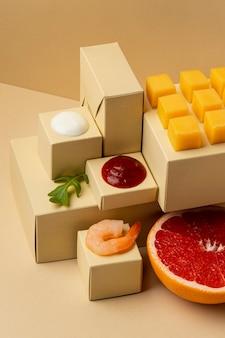 Dieta flexitarian z asortymentem krewetek
