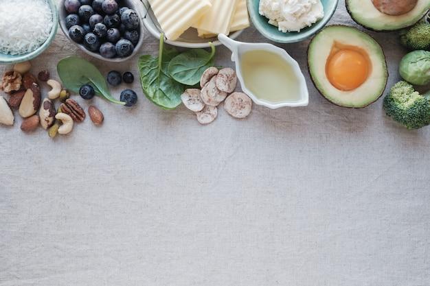 Dieta ketogeniczna, nisko węglowodanowa, wysokotłuszczowa, zdrowa żywność
