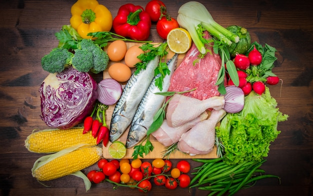 Dieta mediterranena: ryby, mięso i składniki